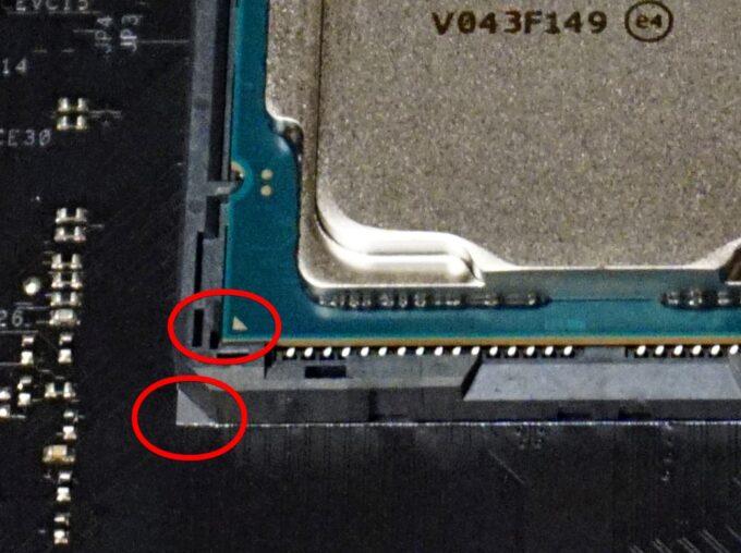 CPUを取り付ける向き