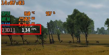 垂直同期OFFのゲーム画面