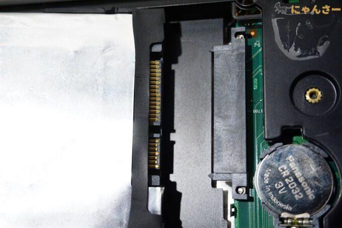 SSDのコネクタ